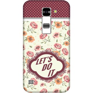 Print Opera Hard Plastic Designer Printed Phone Cover for  Lg K7 Let's do it