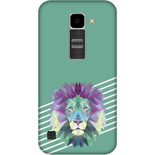 Print Opera Hard Plastic Designer Printed Phone Cover for Lg K10 Lion with green background