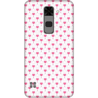 Print Opera Hard Plastic Designer Printed Phone Cover for  Lg Stylus 2 Small pink hearts