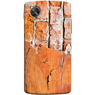 FUSON Designer Back Case Cover For LG Nexus 5 :: LG Google Nexus 5 :: Google Nexus 5 (Peeling Plaster Bricks White Cement Broken Small Big)