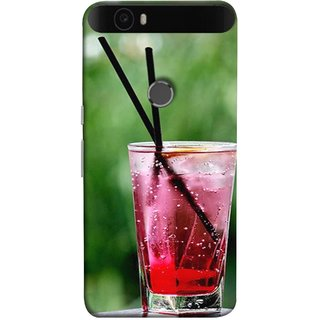 FUSON Designer Back Case Cover For Huawei Nexus 6P :: Huawei Google Nexus 6P (Glass Full Of Cold Fresh Squeezed Watermelon Juice)