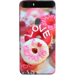 FUSON Designer Back Case Cover For Huawei Nexus 6P :: Huawei Google Nexus 6P (I Love Candy Chocolate Marshmallo Colourful Child)
