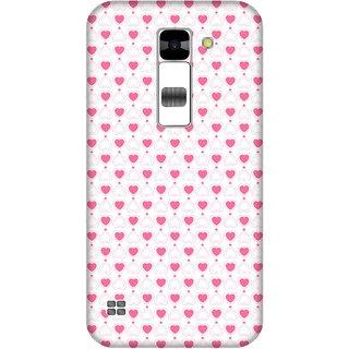 Print Opera Hard Plastic Designer Printed Phone Cover for  Lg K7 Small pink hearts