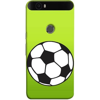 FUSON Designer Back Case Cover For Huawei Nexus 6P :: Huawei Google Nexus 6P (Football Ground Ball Black White Fifa League )
