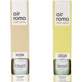 Airroma Cream & Wood and Lemon Grass Home Air Freshener