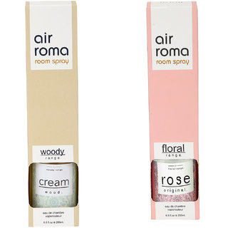 Airroma Cream & Wood and Rose Original Home Air Freshener