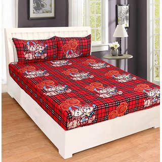 Home Berry Uber Grace Polycotton Double Bedsheet With 2 Pillow Covers - PC-DBL-3D327