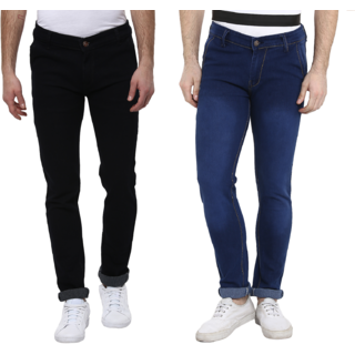 Urbano Fashion Men's Pack of 2  Slim Fit Blue Jeans