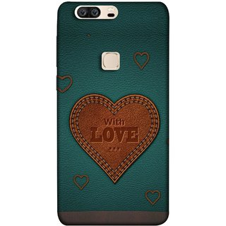 FUSON Designer Back Case Cover For Huawei Honor V8 (Dil Se Tumhare Sath Always Leather Jacket Hearts)