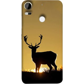 FUSON Designer Back Case Cover For HTC Desire 10 Pro (Adult Alone Animals Very Big Horns Looking Back)