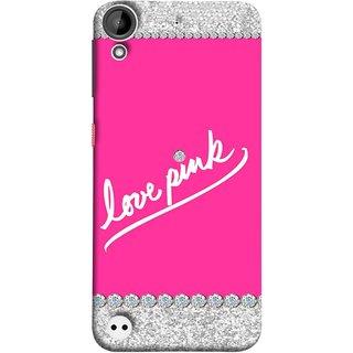 FUSON Designer Back Case Cover For HTC Desire 530 (Always Like Pink Colours Small Diamonds Girls)