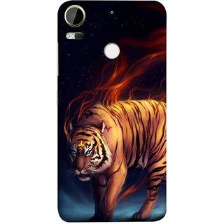 FUSON Designer Back Case Cover For HTC Desire 10 Pro (Jungle King Stearing Leopard Jaguar Aslan Panther Lion)