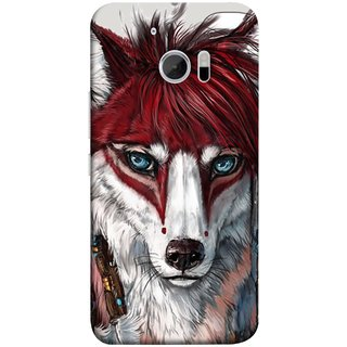 FUSON Designer Back Case Cover For HTC 10 :: HTC One M10 (Blue Eyes Girl Hairs Hairstyles Wolf Large Ears)