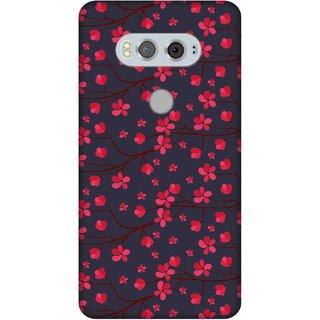 Print Opera Hard Plastic Designer Printed Phone Cover for  Lg V20 Beautiful artistic red flower