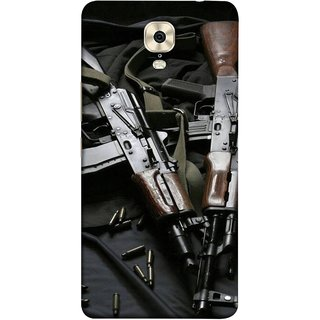 FUSON Designer Back Case Cover For Gionee M6 Plus (Ammunition Bullets Guns Machine Murders War )