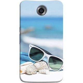 FUSON Designer Back Case Cover For Motorola Nexus 6 :: Motorola Nexus X :: Motorola Moto X Pro :: Google Nexus 6 (Summer Vacation Beach Mobile Wallpaper Blue Sky )