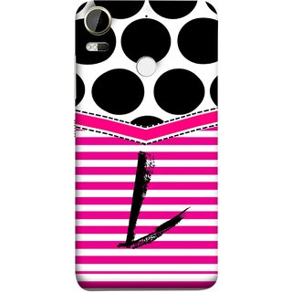 FUSON Designer Back Case Cover For HTC Desire 10 Pro (Beautiful Cute Nice Couples Pink Design Paper Girly Love)