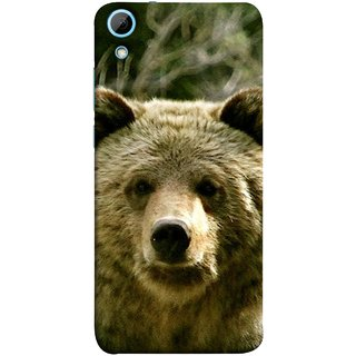 FUSON Designer Back Case Cover For HTC Desire 828 Dual Sim (Bhalu Looking At You Animal Forest Green Background)