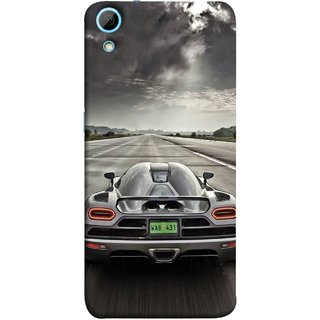 FUSON Designer Back Case Cover For HTC Desire 626G :: HTC Desire 626 Dual SIM :: HTC Desire 626S :: HTC Desire 626 USA :: HTC Desire 626G+ :: HTC Desire 626G Plus (Trees Silver Sports Car Led American Muscle Cars)