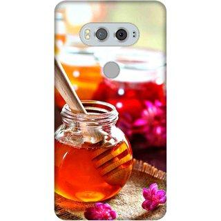 Print Opera Hard Plastic Designer Printed Phone Cover for  Lg V20 Honey In bottle