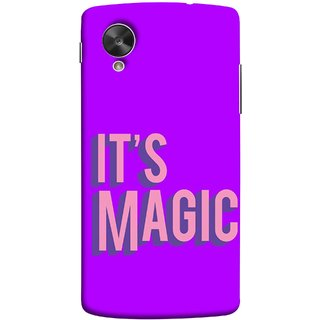 FUSON Designer Back Case Cover For LG Nexus 5 :: LG Google Nexus 5 :: Google Nexus 5 (Lovely Wow Fact Motivational Inspirational Words)