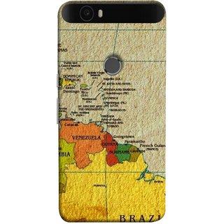 FUSON Designer Back Case Cover For Huawei Nexus 6P :: Huawei Google Nexus 6P (Altitude And Longitude Columbus World Countries )