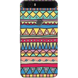 FUSON Designer Back Case Cover For Huawei Nexus 6P :: Huawei Google Nexus 6P (Tribal Patterns Colourful Eye Catching Verity Different )