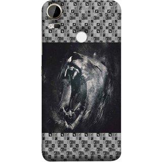 FUSON Designer Back Case Cover For HTC Desire 10 Pro (Grey Canvas Wallpaper Grey Background Leopards)