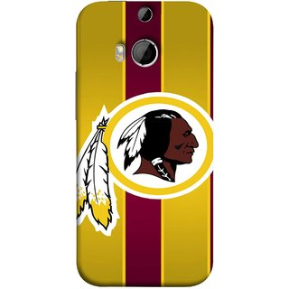 FUSON Designer Back Case Cover For HTC One M9 Plus :: HTC One M9+ :: HTC One M9+ Supreme Camera (Yellow Circles White Yellow And Maroon Vertical)