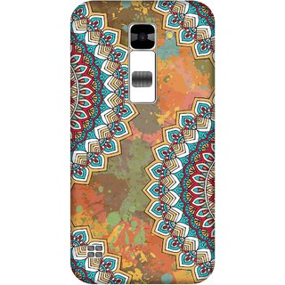 Print Opera Hard Plastic Designer Printed Phone Cover for  Lg K7 Floral pattern orange background