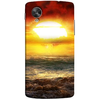 FUSON Designer Back Case Cover For LG Nexus 5 :: LG Google Nexus 5 :: Google Nexus 5 (Sunshine Bright Day Sunny Clouds Fuzzy Waves Long )