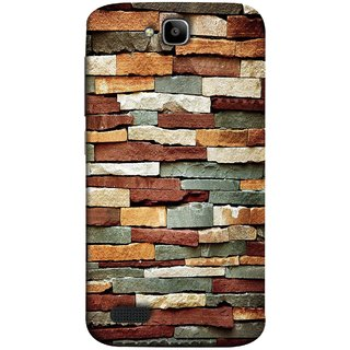 FUSON Designer Back Case Cover For Huawei Honor Holly (Wall Of Multiple Colored Stone Used As A Background)