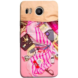 FUSON Designer Back Case Cover For LG Nexus 5X :: LG Google Nexus 5X New (Iphone Larabar Key Chains Money Notes Shampoo)