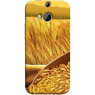FUSON Designer Back Case Cover For HTC One M9 Plus :: HTC One M9+ :: HTC One M9+ Supreme Camera (Wheat Farmers Farms Morning Sunlight Bright Day)