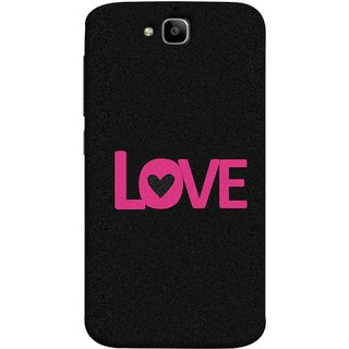 FUSON Designer Back Case Cover For Huawei Honor Holly 2 Plus :: Huawei Honor 2 Plus (Love Life Forever Hearts Real Love True Lovers Valentine)