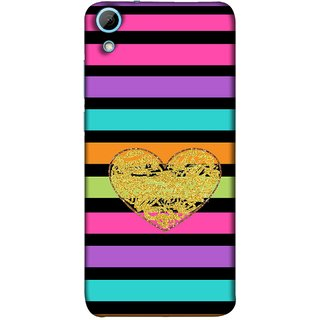 FUSON Designer Back Case Cover For HTC Desire 628 :: HTC Desire 628 Dual Sim  (Sprinkle Gold Glitter Heart Flag Hearts Valentine)
