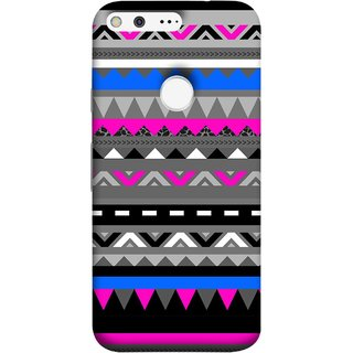 FUSON Designer Back Case Cover For Google Pixel (Tribal Patterns Colourful Eye Catching Verity Different )