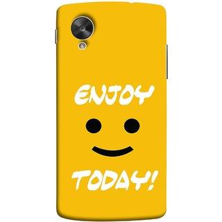 FUSON Designer Back Case Cover For LG Nexus 5 :: LG Google Nexus 5 :: Google Nexus 5 (Big Smiley Smiling Positive Wallpaper Back Cover)