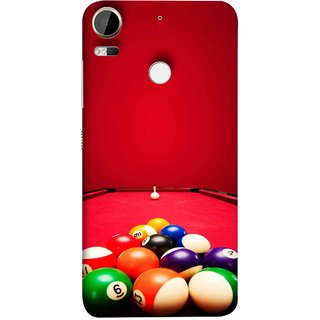 FUSON Designer Back Case Cover For HTC Desire 10 Pro (Billards Pool Game Color Balls In Triangle Aiming)