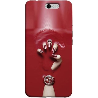 FUSON Designer Back Case Cover For InFocus M812 (Lady Hand With Maroon Watch Nail Polish )