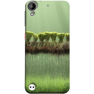 FUSON Designer Back Case Cover For HTC Desire 530 (Sheaves Of Recently Harvested Rice Hanging To Dry)