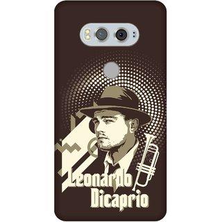 Print Opera Hard Plastic Designer Printed Phone Cover for  Lg V20 Cream and brown artwork