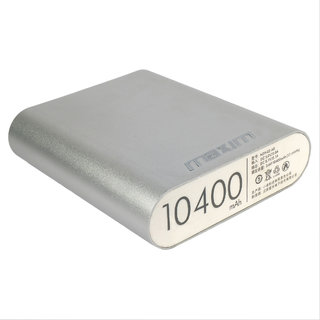 Maxim High Speed Charging 10400 Mah Power Bank (Silver) Suitable For All Smart Phones