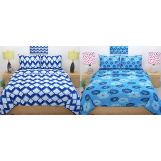 Choco Creation Ahmdabad Double Bedsheet Combo Pack Of 2