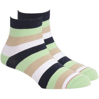 Soxytoes Wide Stripe Ankle Length Men's Cotton Socks 1 Pair