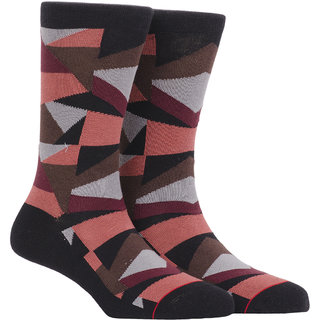 Soxytoes Geometric Crew Length Men's Cotton Socks 1 Pair