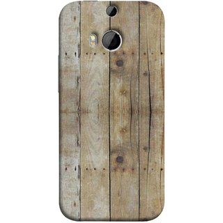 FUSON Designer Back Case Cover For HTC One M9 Plus :: HTC One M9+ :: HTC One M9+ Supreme Camera (Wooden Back Cover Plates Nails Cracks Joints)