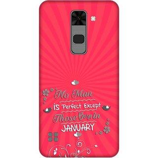 Print Opera Hard Plastic Designer Printed Phone Cover for  Lg Stylus 2 Perfect man born in january