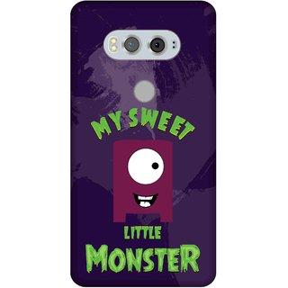 Print Opera Hard Plastic Designer Printed Phone Cover for  Lg V20 My sweet little monster