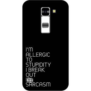 Print Opera Hard Plastic Designer Printed Phone Cover for  Lg K7 Sarcasm
